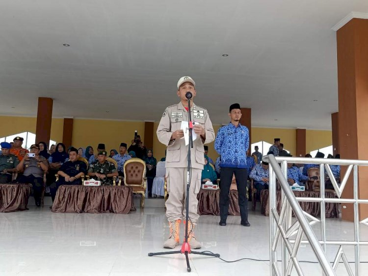 Wakil Bupati Bungo Irup Apel Siaga & Gelar Peralatan Pengendalian Bencana Hidrometeorologi
