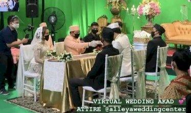 Viral Pernikahan Virtual Pengantin di Yogyakarta