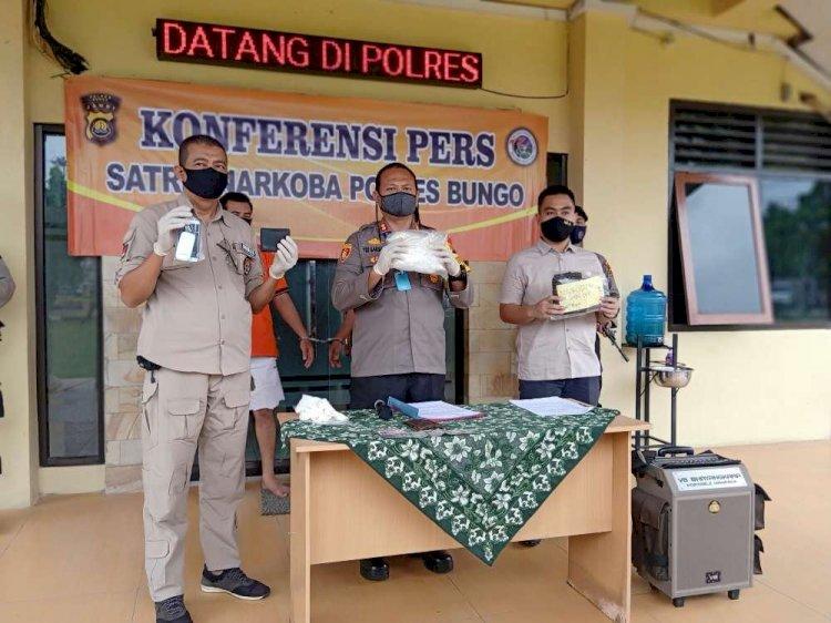 Kedua Warga Aceh Ini Mengaku Diupah Rp50 Juta Bawa Sabu ke Bungo