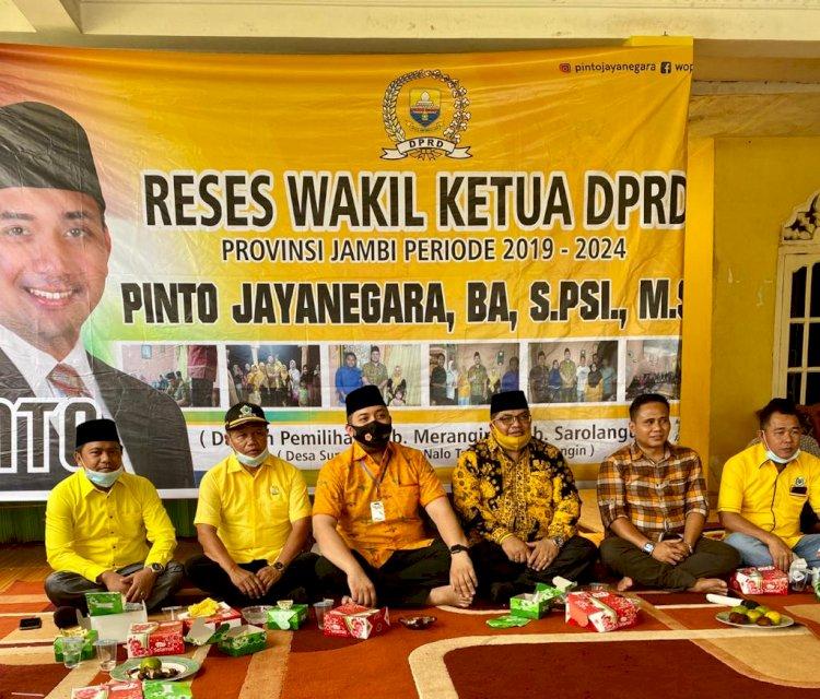 Reses Didampingi Ketua DPRD Merangin, Pinto Jayanegara Serap Aspirasi Konstituen