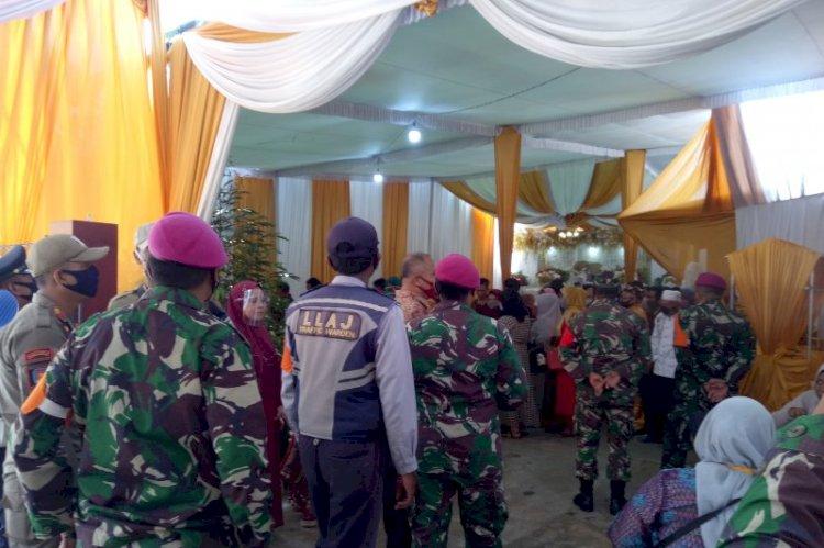 Petugas Cek Semua Protokol Kesehatan dalam Pesta Nikah di Bandarlampung