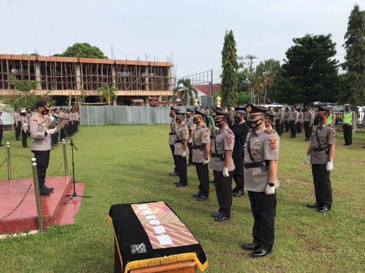 Sejumlah Pejabat Polres Bungo Dirotasi, Kapolres Pimpin Sertijab