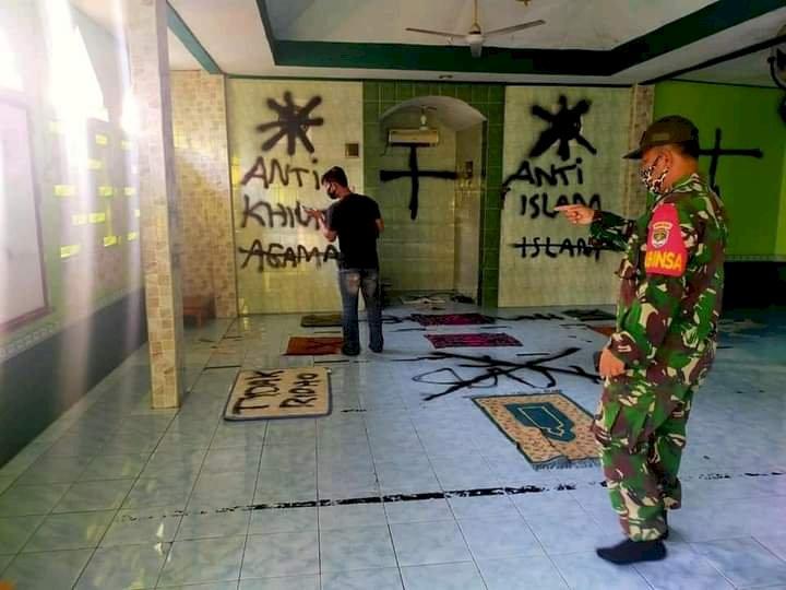 Viral Aksi Corat-coret di Dinding di Mushola Bertuliskan Kafir dan Anti Islam Terjadi di Tangerang