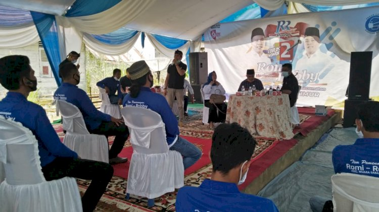 Lantik Tim Pemenangan di Kecamatan Sabak Timur, Romi Hariyanto: Ini Tanah Kelahiran Saya