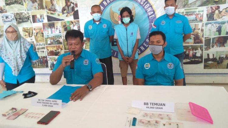 Jadi Pengedar Sabu, Nelayan Ini Ditangkap BNNK Tanjab Timur