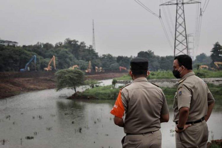 Pengerukan Waduk Pondok Ranggon, Anies: Kondisi Normal Tampung 200 Ribu Meter Kubik Air