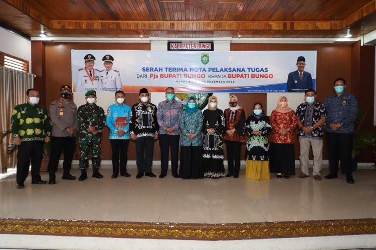 Terhitung 6 Desember 2020 Mashuri & Safrudin Dwi Apriyanto Aktif sebagai Bupati-Wakil Bupati Bungo