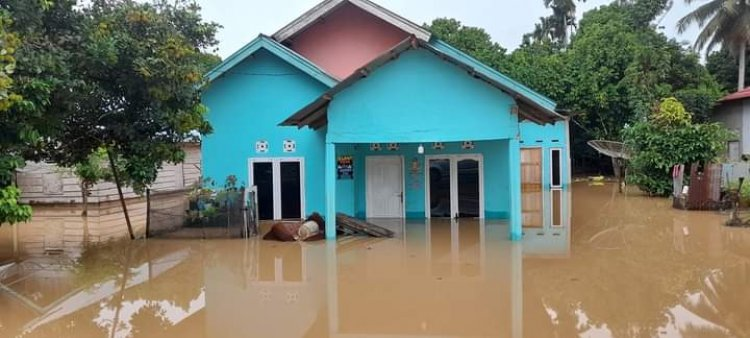 Banjir Rendam Puluhan Rumah di Dua Kecamatan di Bungo-Jambi