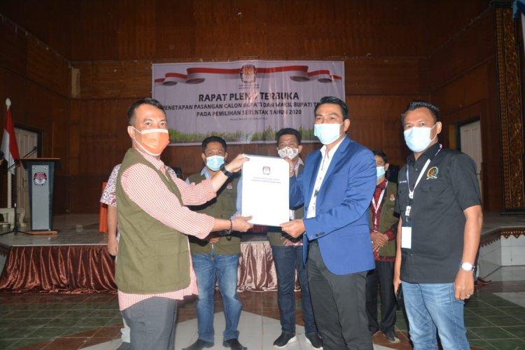 KPU Batanghari Tetapkan Fadhil- Bakhtiar Bupati dan Wakil Bupati Terpilih