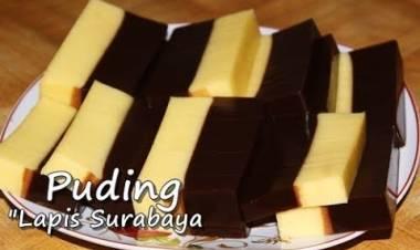 Resep Membuat Puding Lapis Surabaya Mudah, Enak