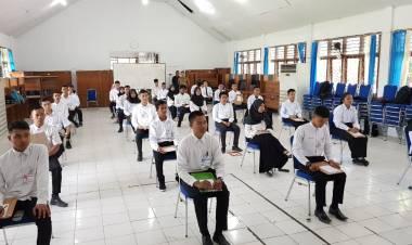Calon Taruna STP Ikuti Tes Akademik di Rayon Tanjab Barat
