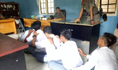Lagi Ngopi di Hutan Lindung Pelajar Batanghari Digerebek Satpol PP