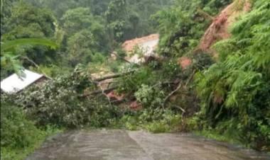 Jalan Batangasai Sarolangun Kembali Longsor, Akses Jalan Sejumlah Desa Terputus