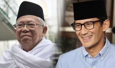Ma'ruf Amin Ingatkan Sandi Jangan Sungkan Berdebat dengan Dirinya