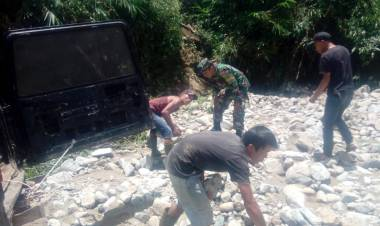Banjir Bandang di Jangkat, BPBD Merangin Belum Turun