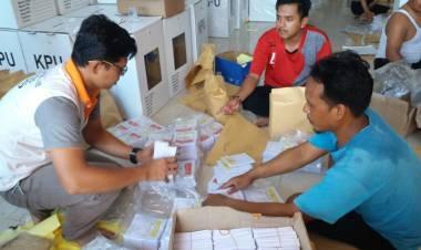 H-3, KPU Merangin Kekurangan 18.454 Surat Suara