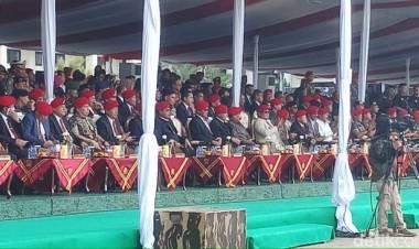Prabowo, Gatot Nurmantyo AM Hendropriyono Hadiri Upacara HUT Kopassus