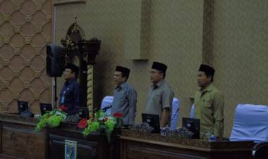 DPRD Kota Jambi Gelar Paripurna Jawaban Eksekutif atas Pandangan Fraksi Terhadap Ranperda RPJMD 2018-2023