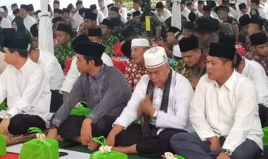 Sekda Muarojambi Hadiri Undangan Buka Puasa Bersama Pangdam II/Sriwijaya di Makodim