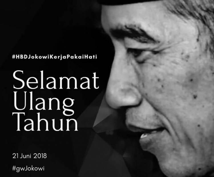 Presiden Jokowi Ulang Tahun Ke-57, #HBDJokowiKerjaPakaiHati  Trending Topic Hari ini