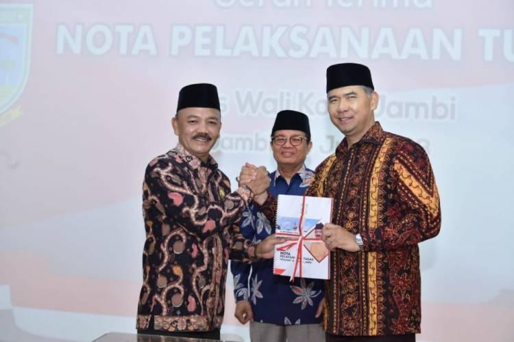 Serah Terima Jabatan Walikota Jambi, Fasha dan Fauzi Saling Puji di Depan Fachrori