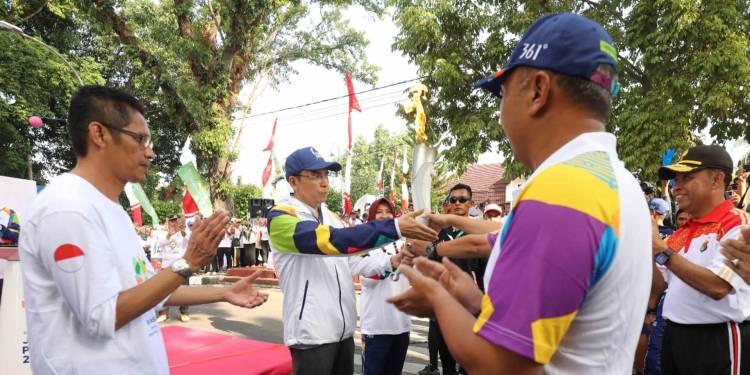 Obor Api Asian Games 2018 di Kantor Gubernur NTB Lombok