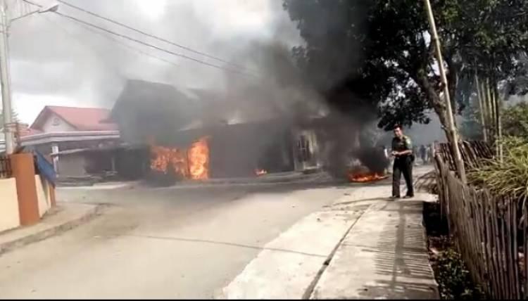 Bentrok Antar Desa di Kerinci Terjadi Rumah, 8 Motor dan 1 Mobil Dibakar