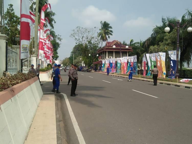 Menunggu Api Obor Asian Games, Pengamanan Rumah Dinas Gubernur Jambi Diperketat