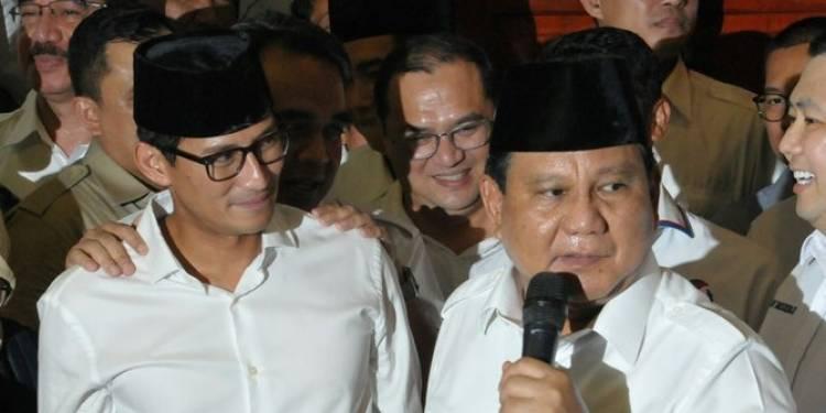 Prabowo Enggan Komentari Peluang Sandi Dampingi jadi Cawapres