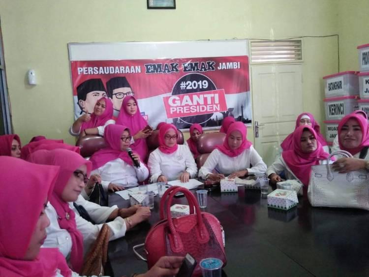 Di Jambi, Persaudaraan Emak-emak #2019GantiPresiden Dideklarasikan