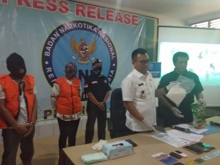 Pasutri yang Ditangkap BNN Provinsi Jambi di Bungo Bawa Sabu 1 Kg dari Malaysia