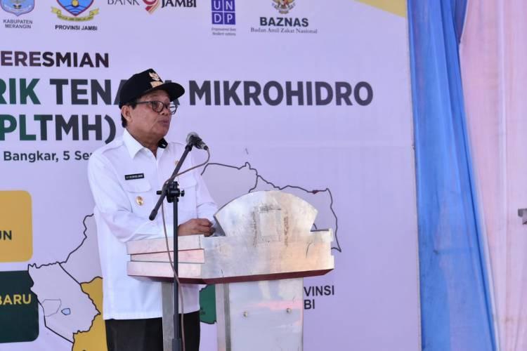 Fachrori Umar: PLTMH Sarolangun dan Merangin Solusi Ketersediaan Energi Listrik di Jambi