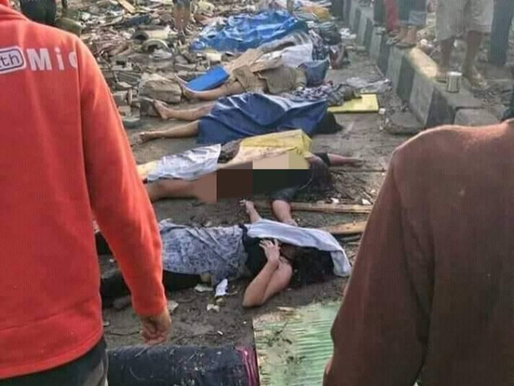 Korban Tewas Tsunami Tembus 832 Jiwa, Pemerintah Lakukan Pemakaman Massal