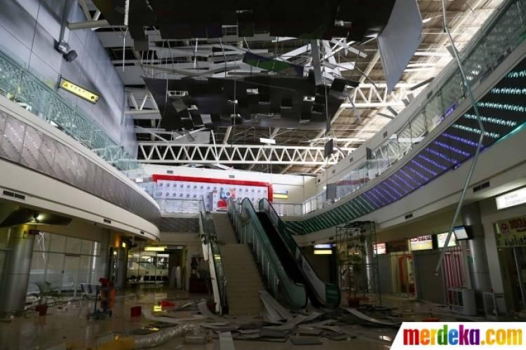 Ratusan Personel TNI dan Polri Sterilkan Bandara Mutiara Sis Al-Jufri Kota Palu