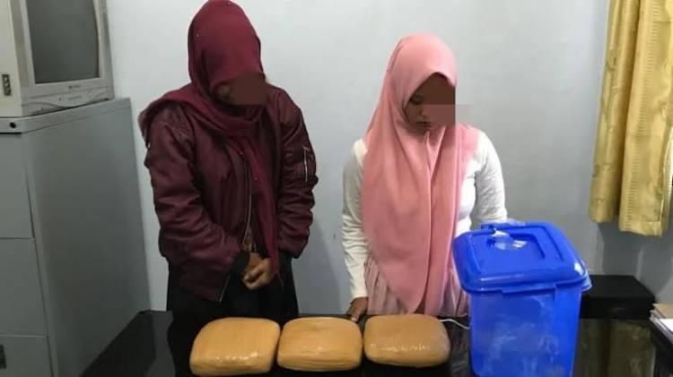 Ini Kronologis Penangkapan Wanita PNS dan Mahasiswi Aceh Bawa Ganja 2,7 Kilogram