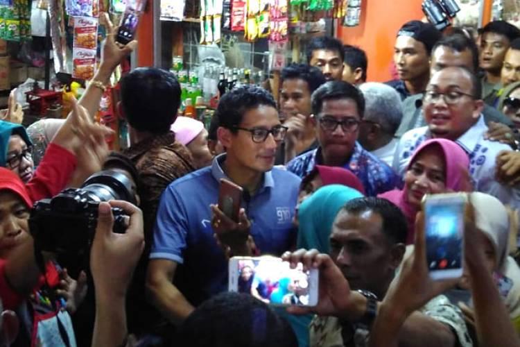 Di Padang, Uda Sandi Sebut Perekonomian Sekarang Melambat