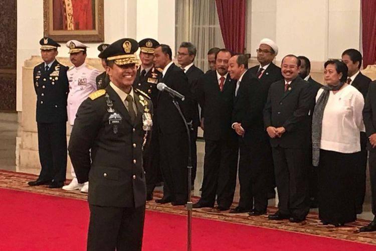 Andika Perkasa Ucapkan Sumpah Jabatan Sebagai KSAD