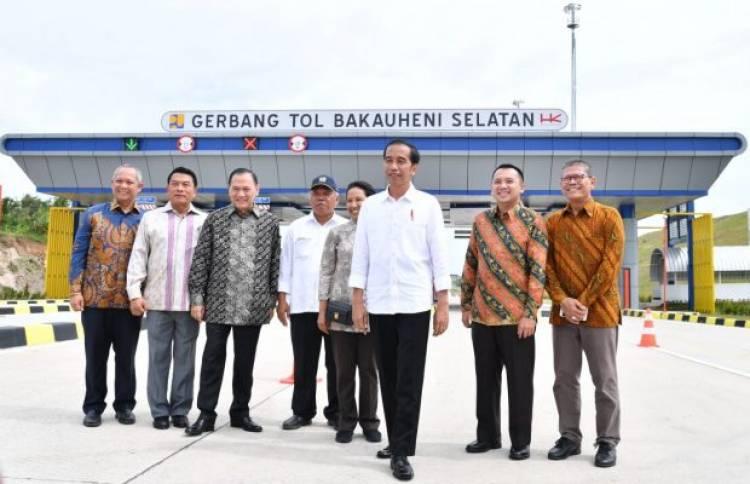 Pergi ke Lampung Presiden Cek Pembangunan Tol Trans Sumatera
