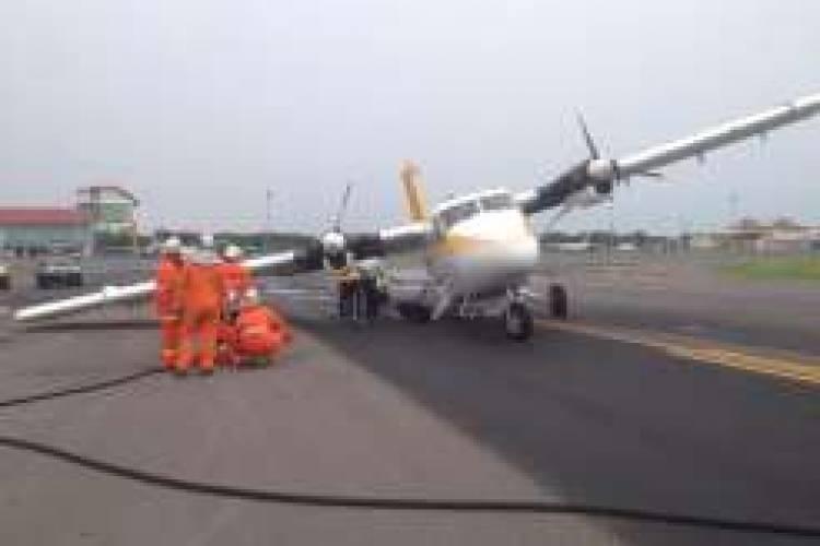 Kepala Polisi Terluka Disambar Pesawat Pelita Air