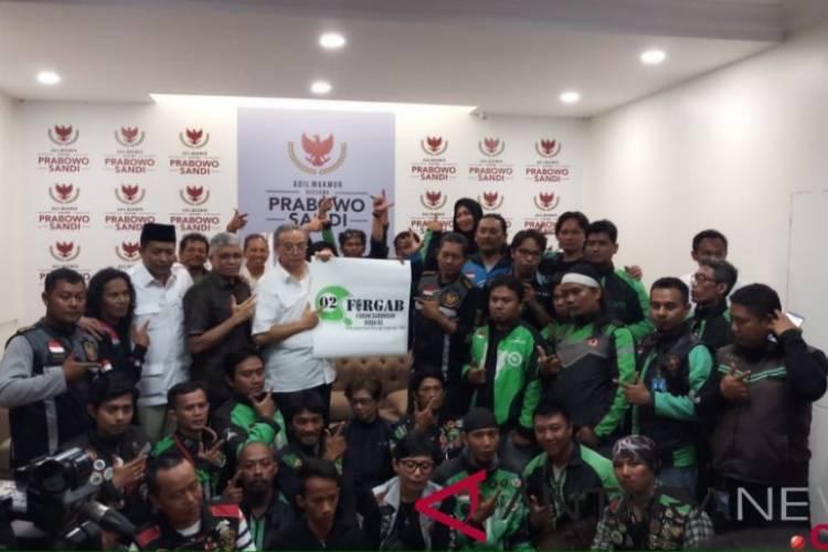 Kopdar, Prabowo Bertemu 10 Ribu Tukang Ojek Online