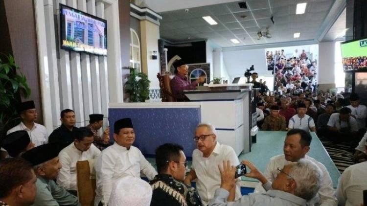 Didepan Ribuan Majelis MTA Solo, Prabowo Grogi Berbicara