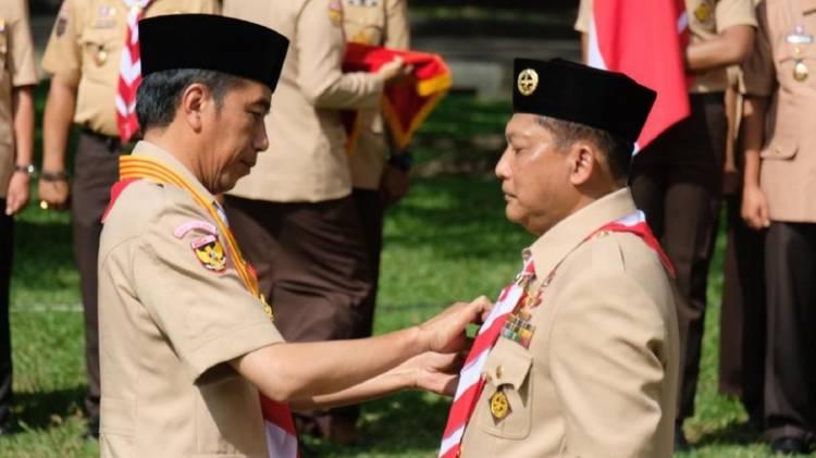 Presiden Lantik Budi Waseso Ketua Kwarnas Pramuka 2018-2023