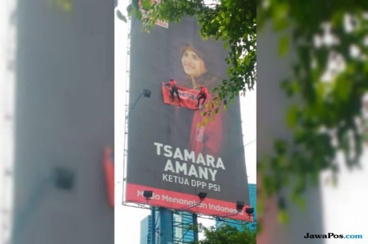 Ini Tanggapan PSI Soal Foto Penyegelan Papan Reklame Tsamara Amany…