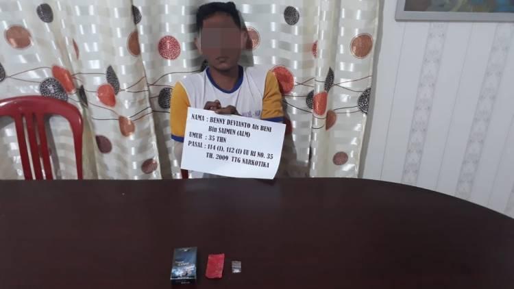 Simpan Sabu, Kuli Bangunan Tabir Selatan Merangin Ditangkap Polisi