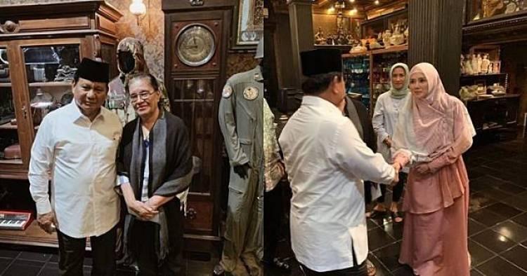 Begini Kunjungan Prabowo ke Keluarga Ahmad Dhani