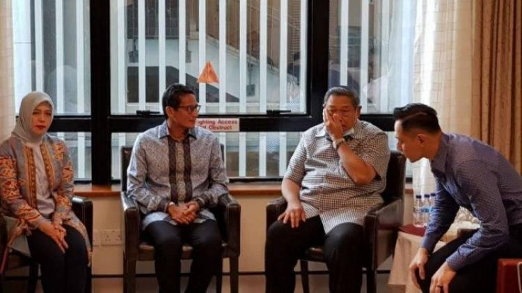Hanya 30 Menit, Sandiaga Uno Jenguk Ani Yudhoyono