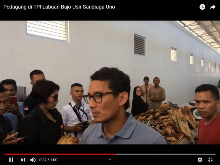 Viral, Video Sandiaga dan Tim Sukses Diusir Pedagang Ikan