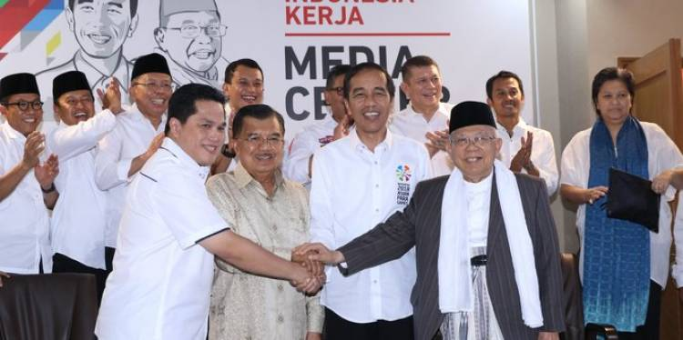 Duit Kampanye Jokowi-Ma'ruf Rp87 Miliar Hingga Akhir Februari