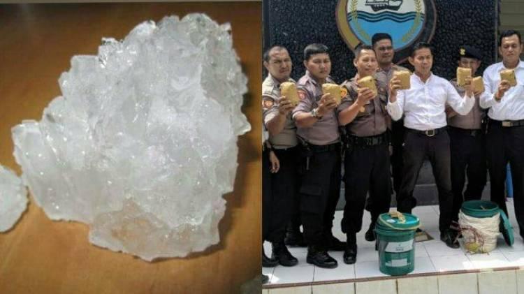 Aduh..! Sabu 7 Kilogram Yang Dirilis Polisi Ternyata Tawas