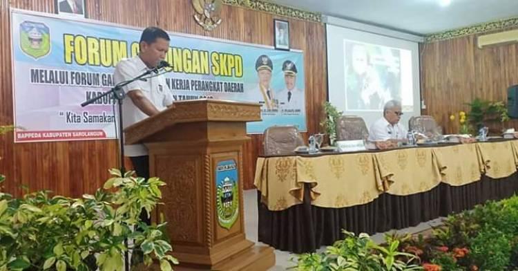 Bappeda Sarolangun Gelar Forum Gabungan SKPD
